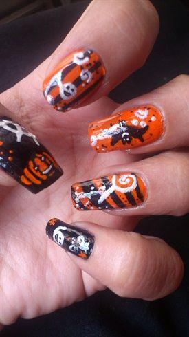 Halloween Nails - Nail Art Gallery by NAILS Magazine