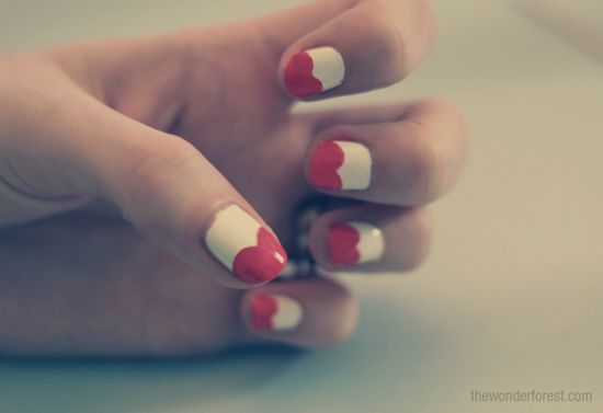 Heart Nails!! #wedding #nails #manicure #bride