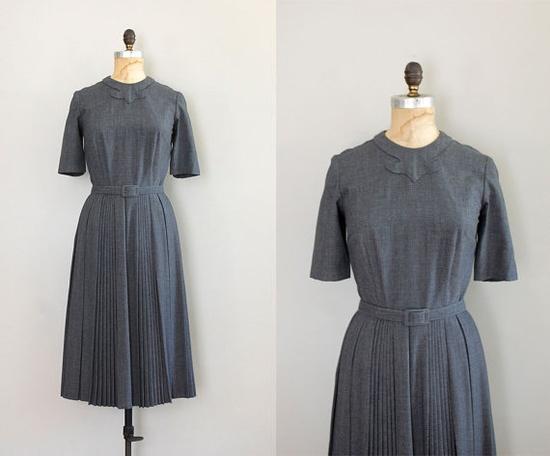 Gabardine 1950s dress.