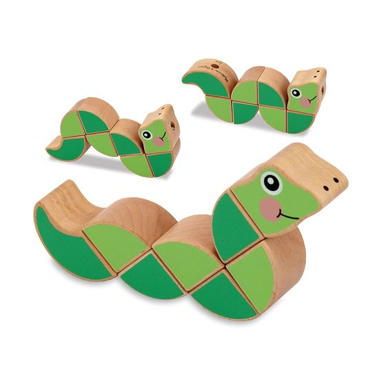 Holiday gift for baby: Melissa and Doug Wiggling Worm Grasping Baby Toy