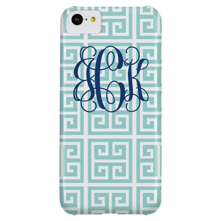 Personalized Greek Key iPhone 5s Case