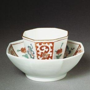 Teabowl and saucer.  Japan. 1700.