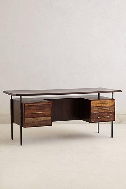 Handcrafted Coalie Desk #anthropologie  #anthrofave