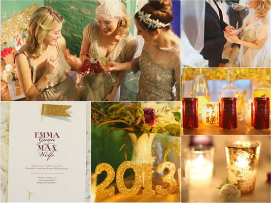 Sparkling New Year's Wedding Ideas
