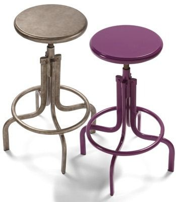 Add a practical pop of color to the kitchen or an industrial element to the studio with our Bravo Metal Swivel Stools.