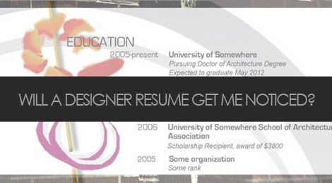 Will a designer resume get you noticed?