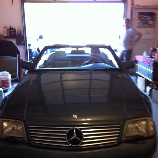 Jesses' garage customer car.. Mercedes!