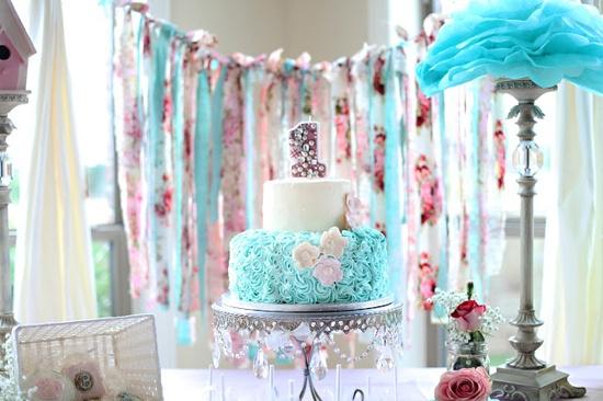 super girly 1st birthday party