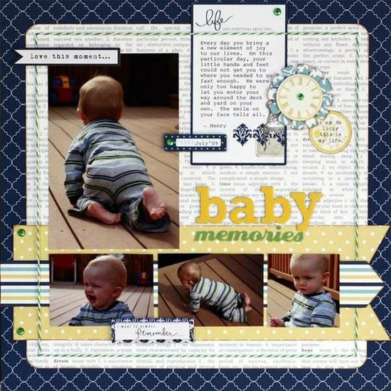 Scrapbooking-Baby Layouts by cassandra