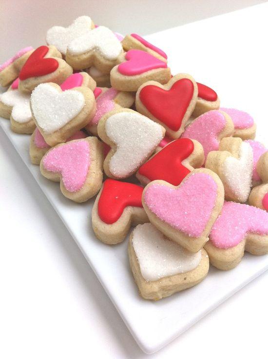 v-day sugar cookies