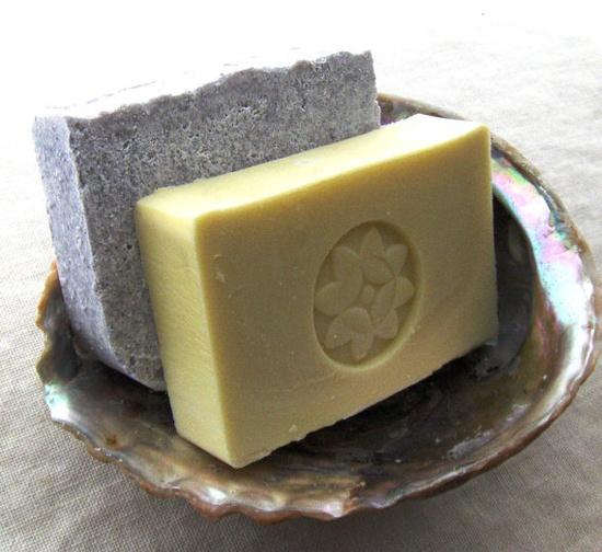 Soap Set for Sensitive Skin: Castile Soap (Olive Oil Soap) and Sea Salt Soap - Gentle Cleaner - Soap Sensitive - Unscented Soap