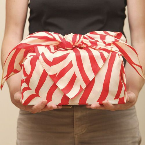 Fabric wrapped gift