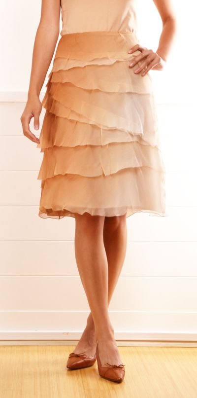 Prada Tiered Chiffon Skirt