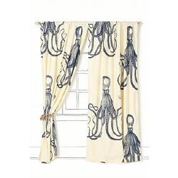octopus curtains. Must have these for the bedroom!