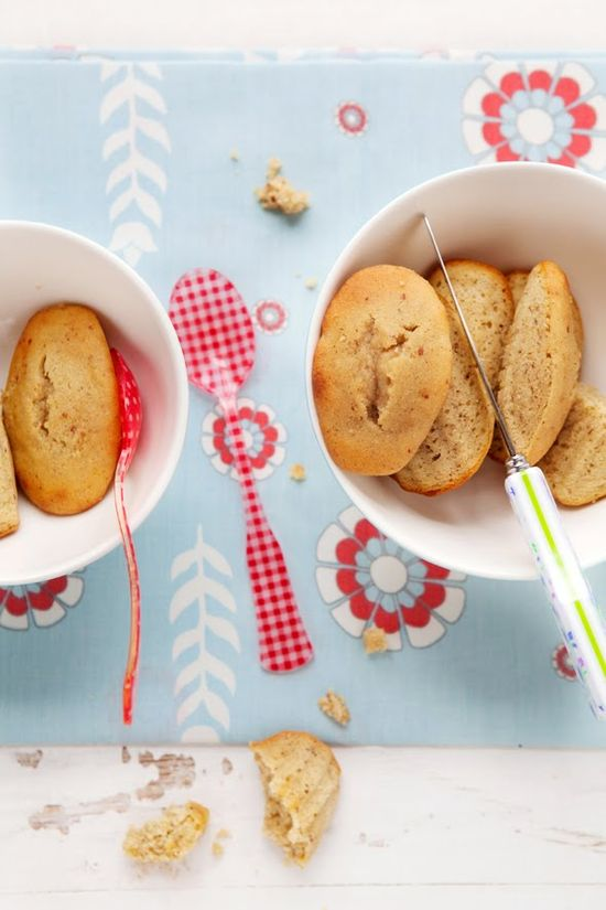 Brown Butter and Roasted Apple Madeleines