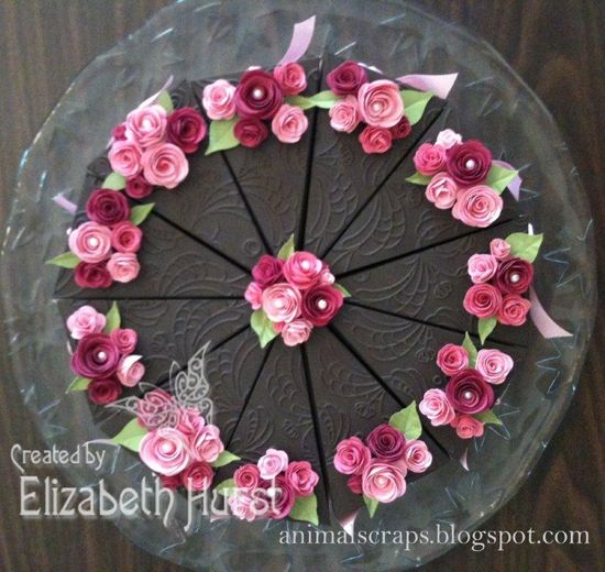 Paper cake using all Stampin' UP! supplies. My exclusive design using the petal cone die.