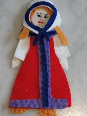 Creating a felt Russian doll