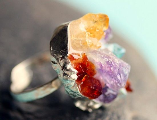 {Mixed Crystal Ring} wow!
