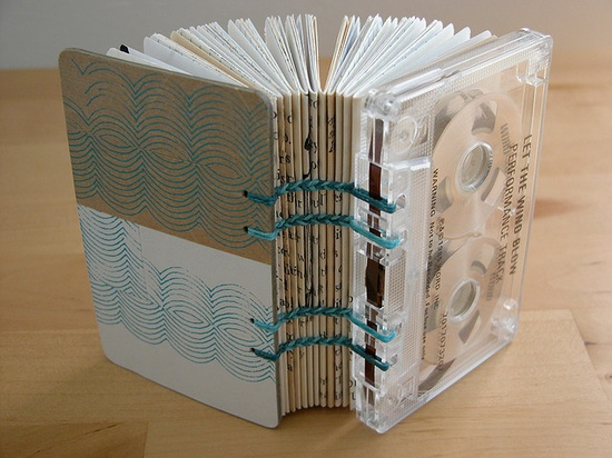 upcycled cassette tape book