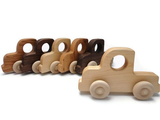 Natural Wood Toy Cars from Bannor Toys