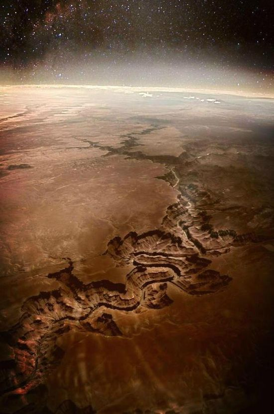 The Grand Canyon seen from outer space