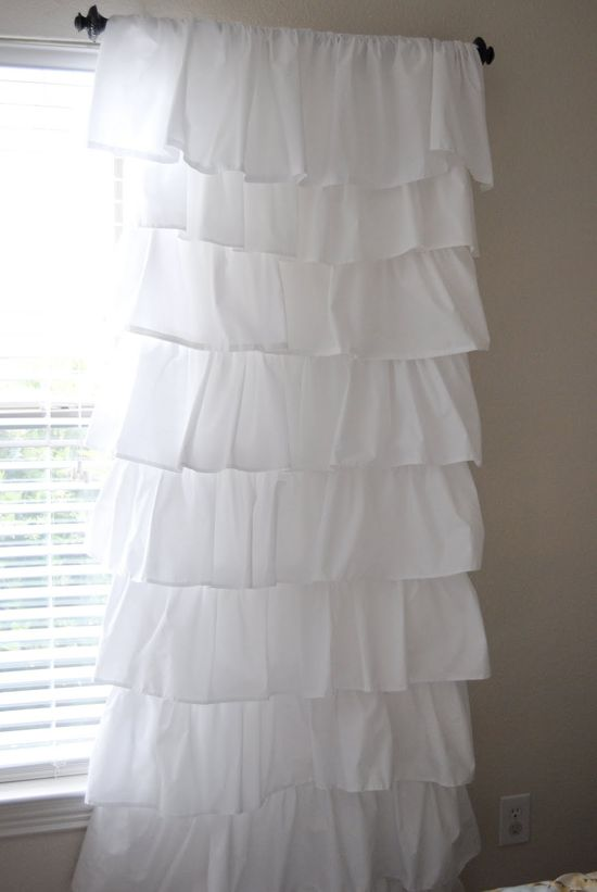 DIY Ruffle curtains