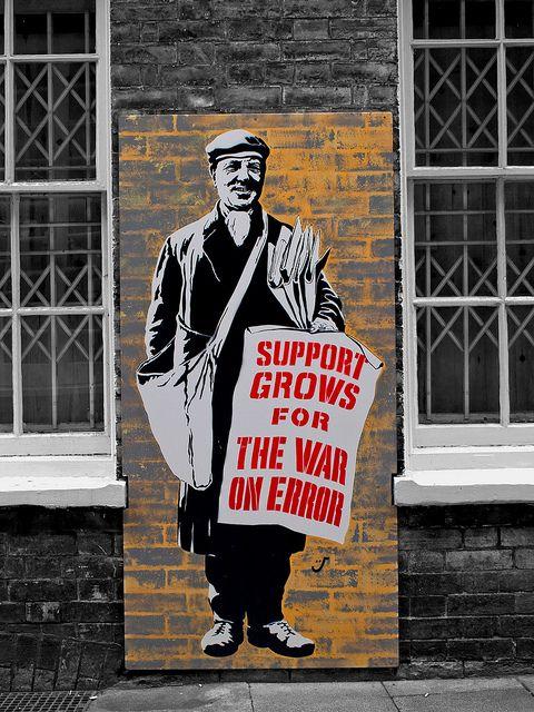 The War on Error, seen in Lower Goat Lane, Norwich. street art 000