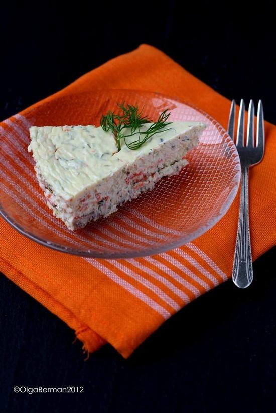 """Bagels & Lox"" Savory Cheesecake"