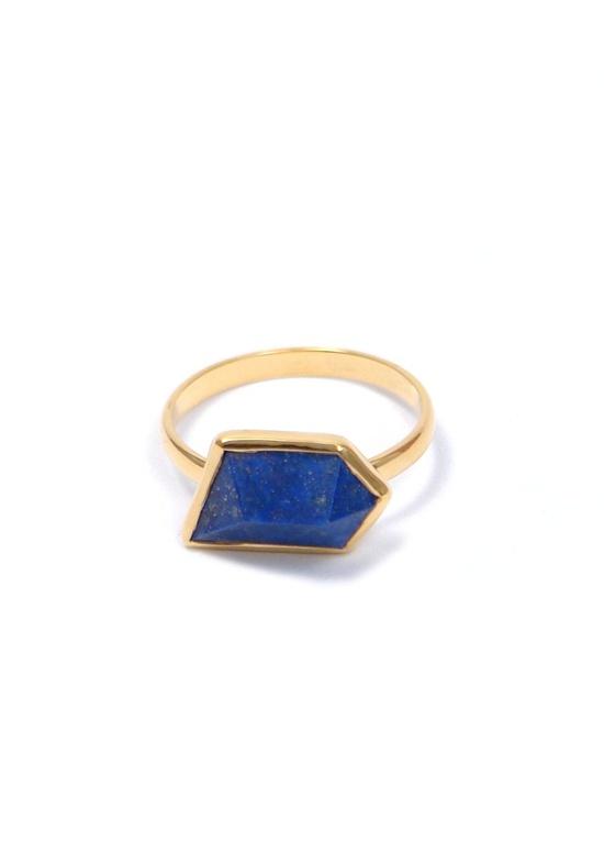Katie Diamond Lapis Geo Ring.