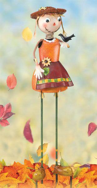 Scarecrow Girl Garden Decor