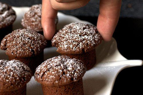 Chocolate Yogurt Snack Cakes by smittenkitchen: Light, moist and not overly intense. #Chocolate #Yogurt #Cake #smittenkitchen