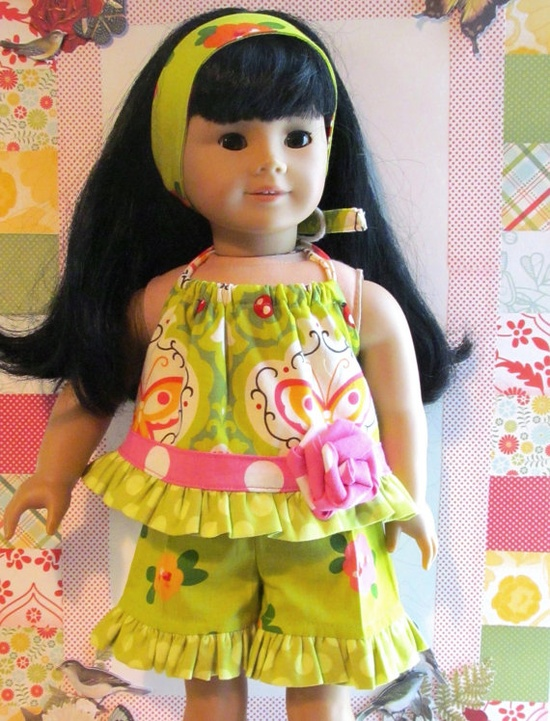 American Girl doll short set 3pc by saraannas on Etsy, 18.00