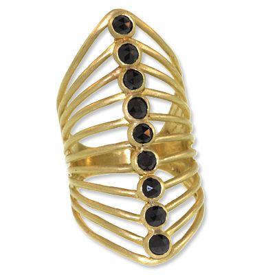 L Frank Nine-Stone Vertebrate Ring