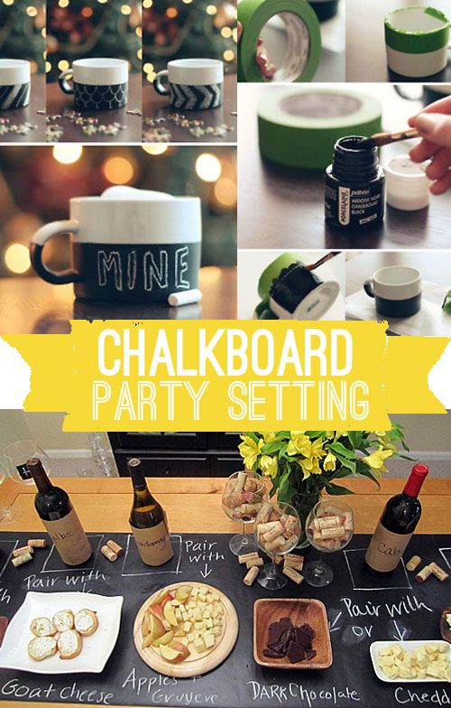 Chalkboard Paint Party Setting