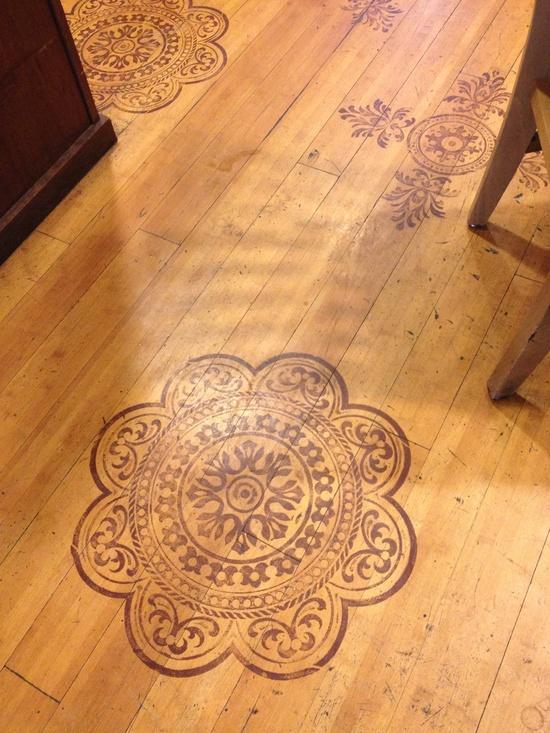 Wood floor stain designs