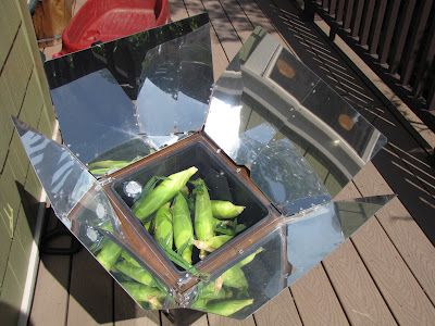 PREPARE TODAY: Sun Oven Cooking.  Corn on the cob in the sun oven!
