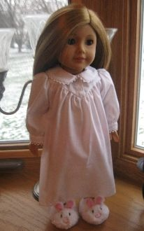"""Sweet Dreams"" Nightgown for 18 Inch American Girl Dolls"
