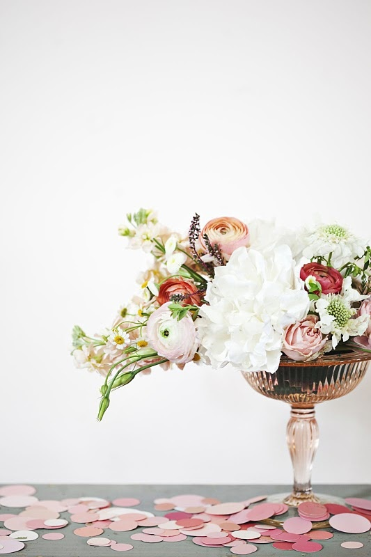 love the shape and texture of the arrangement
