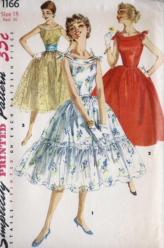 1950s Misses Sleeveless Party Dress