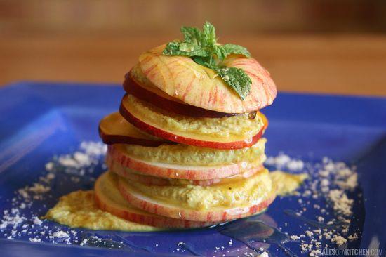 apple peach fruit salad