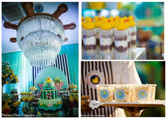 Sailor Duck First Birthday Party via Kara's Party Ideas www.KarasPartyIde...