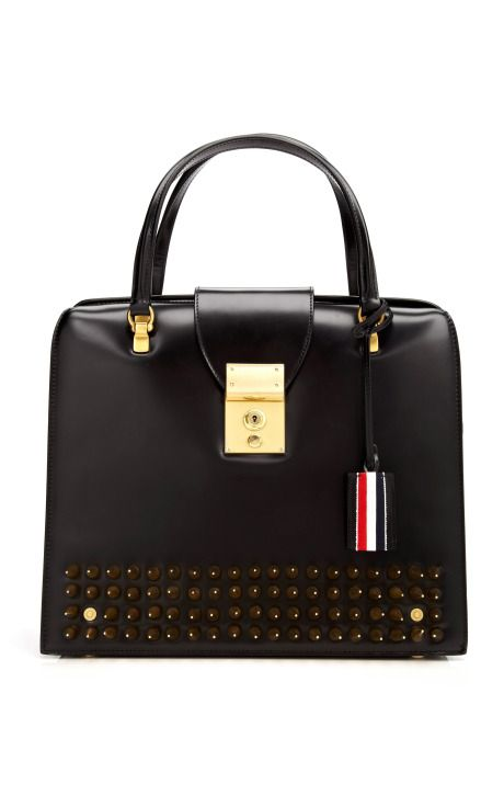 Mrs. Thom One-Of-A-Kind Spike Studded Handbag by Thom Browne