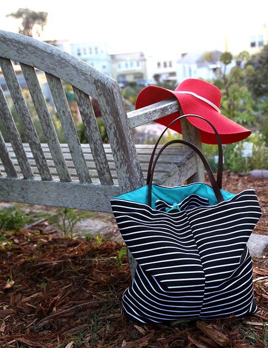 DIY Summer Beach Bag tutorial