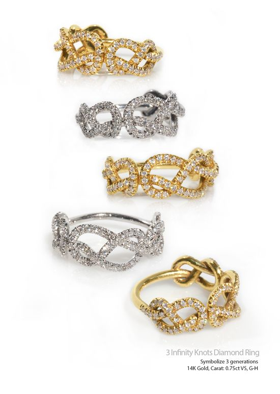 3 Infinity Diamond Ring
