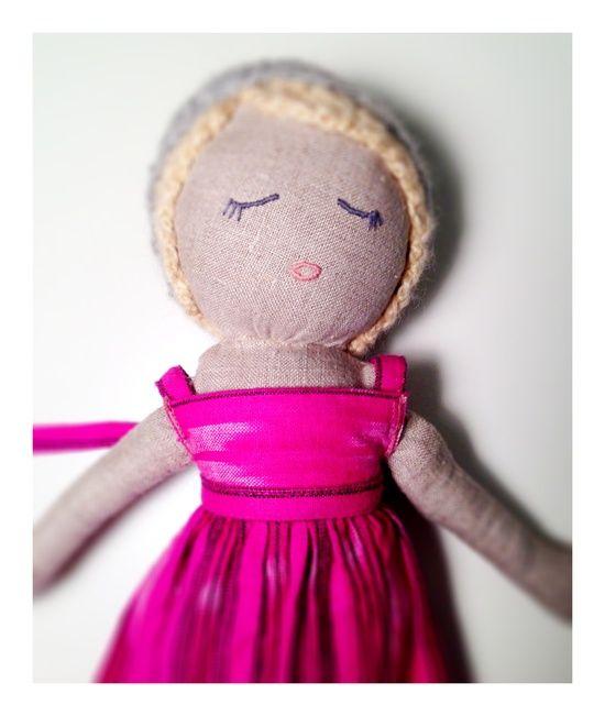 Kathryn Davey handmade doll, blonde.