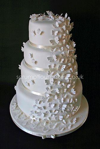Wedding Cake - Butterfly Cascade by Scrumptious Cakes (Paula-Jane), via Flickr