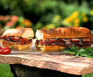 Grilled Sub Sandwich: fill hollowed bread with meat and cheese, then grill until hot.