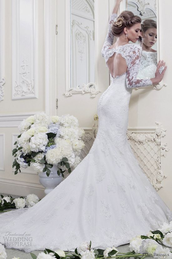 ellis bridals 2013 long sleeve wedding dress
