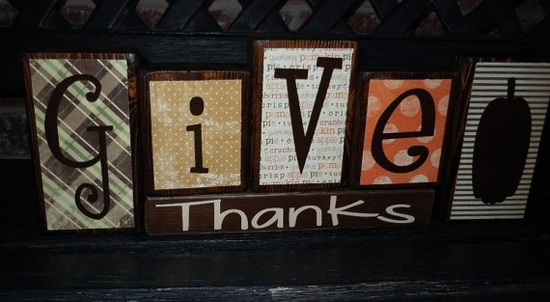Give Thanks / Merry Christmas reversible blocks