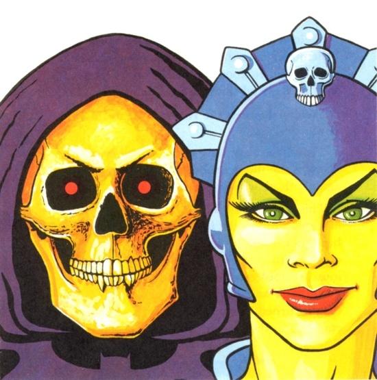 Skeletor and Evil-Lyn Art